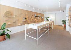 Ace & Tate's Amsterdam eyewear store boasts pegboard walls