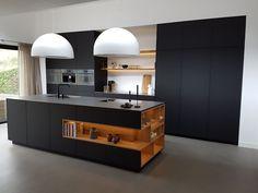 Black kitchen (Vos71) #Modernkitchenshelves