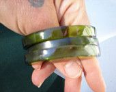 RECYCLING GREEN BOTTLES into bracelets, jewelry, fashion design, bangles, bracelet, jewelery bracelet, bangle b 623