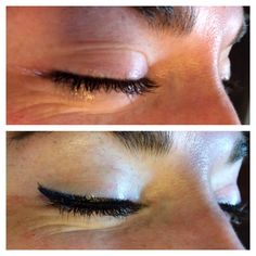 Here's another angle on those exotic eyes. Permanent makeup rocks!