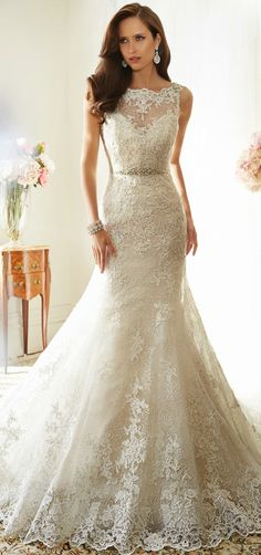 Love this dress with a different neckline  Sophia Tolli 2015 Bridal Collection | bellethemagazine.com