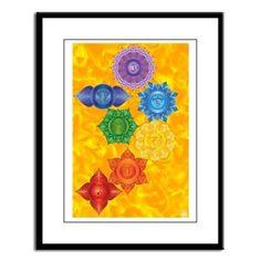 Chakras with Solar Plexus Chakra BG Framed Print