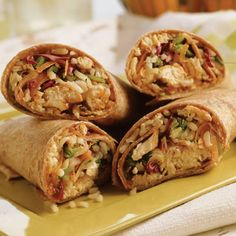 Asian Chicken Wraps – Delicious recipe that doesn't sidetrack your diet. Asian Chicken Wraps – Delicious recipe that doesn't sidetrack your diet. Fall Recipes, Asian Recipes, Great Recipes, Favorite Recipes, Asian Foods, Summer Recipes, Recipe Ideas, Croissant Sandwich, Teriyaki Chicken