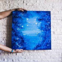 Купить Картина Глубина в интернет магазине на Ярмарке Мастеров Blue Art, Tie Dye Skirt, Artists, Female, Blue Artwork, Artist