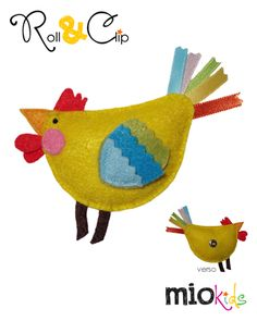 """Bé"" Chicken Mio Character to use with Roll & Clip bands."