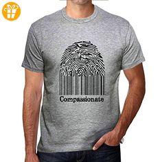 Compassionate Fingerprint, tshirt herren, fingerabdruck tshirt, geschenke tshirt - Shirts mit spruch (*Partner-Link)