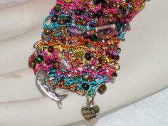 Jellicle Cat - hand knitted wire bracelet...wear it with only a smile!
