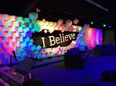 Pixel Break Out - Church Stage Design Ideas - Scenic sets and stage design ideas. Pixel Break Out Stage Set Design, Church Stage Design, Bühnen Design, Design Ideas, Concert Stage Design, Church Interior Design, Corporate Event Design, Stage Background, Stage Decorations