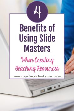 How to Create Your Teaching Resources More Quickly Using Slide masters - Cognitive Cardio w/Middle School Math Moments Teaching Technology, Educational Technology, Teaching Math, Teaching Resources, Teaching Ideas, Too Cool For School, Middle School, School Stuff, High School