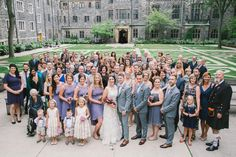 Portrait of entire wedding party and guests - Sarah and Will's wedding in Toronto in August, 2014...