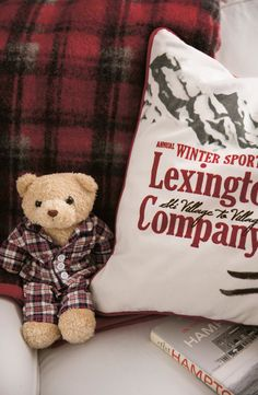 Teddybear and a cozy sham!  View our Holiday 2014 Collection.  http://www.lexingtoncompany.com/home/holiday_collection
