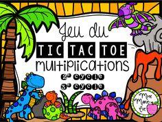 Jeu de Tic Tac Toe amusant pour travailler les tables de multiplications de 0 à 12.