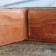 The Ellis Wallet, a 9 pocket full size and totally handmade bifold wallet