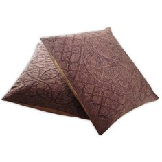 Amazon.com - Cushion Cover Applique Cut Brown Color Handmade Pillow Case, Set of 2 from India 16 x 16 inches - Throw Pillow Covers