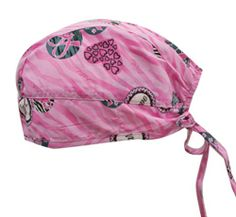 Cherokee Wild About A Cure Scrub Cap