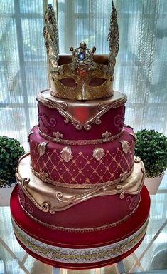 Amazing Wedding Cakes, Elegant Wedding Cakes, Amazing Cakes, Birthday Cake For Husband, Birthday Cake Girls, Gorgeous Cakes, Pretty Cakes, Masquerade Cakes, Royal Cakes