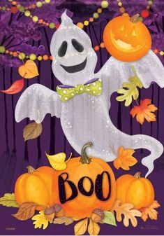 Ghouly Ghost House Flag - x - Flag Trends - 2 Sided Message Purple Halloween, Halloween House, Halloween Design, Chalkboard Banner, Merry Christmas Love, Evergreen Flags, Yard Flags, Outdoor Flags