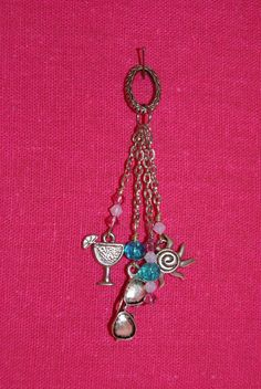 Aqua & Pink Summer Charm by closecrafts on Etsy, $10.00