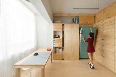 Aménager un studio de 15m2 avec beaucoup de rangements - Visit the website to see all pictures http://www.amenagementdesign.com/decoration/amenager-studio-15m2-beaucoup-rangements