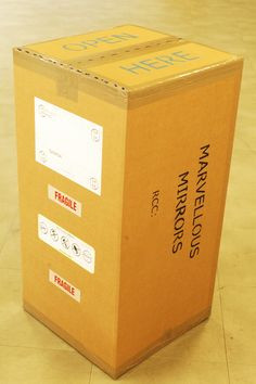 Quantun Box: Your mirrors are now sent in a specially designed box from MarvellousMirrors.com  - so to minimize any damage during transportation to your home, office or gallery..!