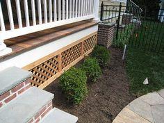 lattice work for under porch