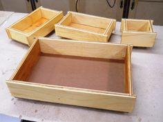 Dovetailed Shop Trays / Plateaux d'atelier à queues d'aronde