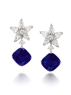 The Richelieu Sapphires, a pair of rare Kashmir sapphires weighing a total of 47 carats