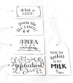 Gifttags, labels: Illustrator Marloes de Vries het PapierAtelier @ ShowUP. Seen on HappyMakersBlog.com. Photo: BloomInspiration