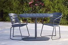 Ideal for smaller areas, the charming Cosco Metro Retro Steel 3 Piece Nesting Patio Bistro Set is perfect for your apartment patio or urban garden. Affordable Outdoor Furniture, Outdoor Living Furniture, Patio Furniture Sets, Furniture Ideas, Furniture Design, Pallet Furniture, Furniture Online, Furniture Layout, Cheap Furniture