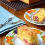 Raspberry and Orange Traybake. Raspberry and Orange Traybake- A delicious rustic cake made with fruit and ground almonds. Tray Bake Recipes, Cake Recipes, Dessert Recipes, Cooking Recipes, Desserts, Pear And Almond Cake, Almond Cakes, Pie Cake, No Bake Cake