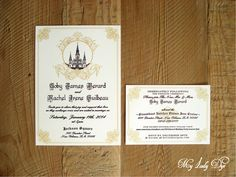 100 Jackson Square New Orleans Wedding Invitations   St. Louis Cathedral    By My Lady Dye