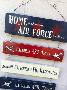 Military Home Sign by TwoWillowsGifts on Etsy. love the planes added in.
