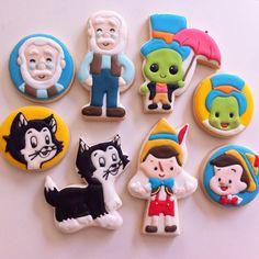 Pinocchio cookies by Vanilla Art Cookies