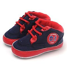 Boys' Shoes First Walkers Flat Heel Fashion Sneakers with Lace-up Shoes