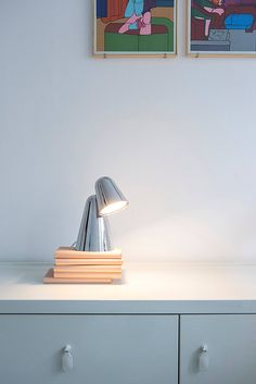 PEPPONE Table Lamp in Chrome. LED. Rotating head. Design by Benjamin Hopf for FORMAGENDA. Available in different colors at www.formagenda.com #Formagenda #Lighting #Design