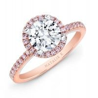 rose gold and pink diamonds