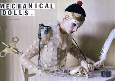 Mechanical Dolls by Tim Walker - This editorial in the October 2011 issue of Vogue Italia is all dolled up -- literally. Mechanical Dolls by Tim Walker features a collection of sur. Tilda Swinton, Victoria And Albert Museum, Clowns, Fashion Art, Editorial Fashion, Fashion Pics, Circus Fashion, Weird Fashion, Vogue Fashion