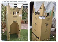Castillo hecho con una caja! juguetes de carton