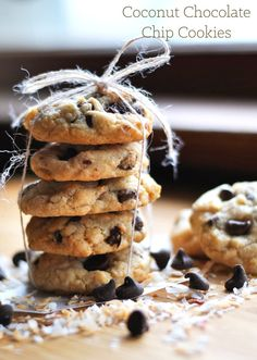 coconut chocolate chip cookies recipe | @cookiedesire