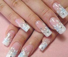 snow. #nails #nail_art #manicure #acrylics