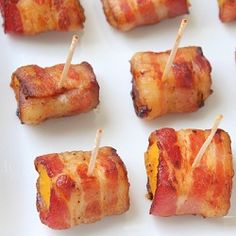 Bacon Wrapped Butternut Squash Bites