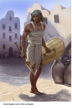 Egyptian close combat warrior