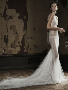 Vera Wang see-through column wedding dress