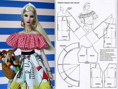 Blouse for dolls - pattern | A lot of patterns in my Pintere… | Flickr