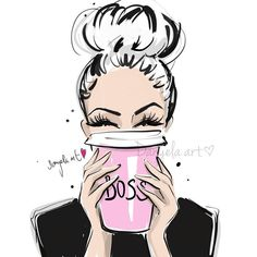 Triple BOSSY ESPRESSO for today morning please! 💕 15 min sunday evening sketch for better monday morning ✍🏻 Have a beautiful… Fashion Sketches, Art Sketches, Art Drawings, Watercolor Clipart, Fashion Wall Art, Arte Pop, Girl Boss, Boss Babe, Cute Wallpapers