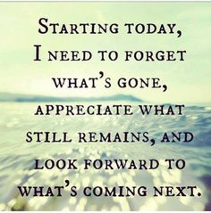 Remembering the past puts action there. Refocus your energy. Don't let your past consume you, you're not there anymore.