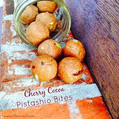 Cherry Cocoa Pistachio Bites (paleo if you use the coconut flour option)