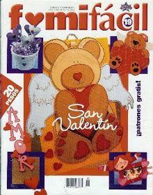 Revistas de manualidades san valentin - Revistas de manualidades gratis Tole Painting, Teddy Bear, Magazine, Paper, Diy, Crafts, Animals, Saints, Baby Dolls