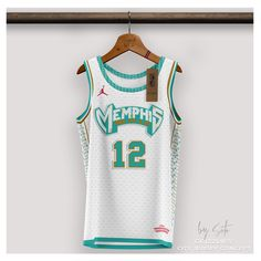 Best Nba Jerseys, Sport Shirt Design, Memphis Grizzlies, Football Kits, Basketball Jersey, Sports Shirts, Adobe Photoshop, Athletes, Adobe Illustrator