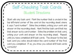 Order of Operations Self-Checking Task Cards FREEBIE